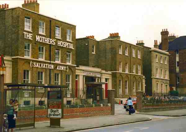 Mother's Hospital on Clapton Road in the suburb of Hackney in London